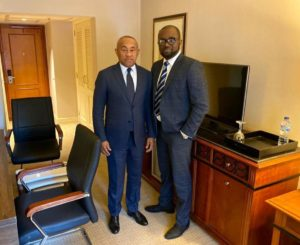CAF boss Ahmad Ahmad congratulates GFA President; assures him of total support