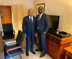 CAF boss Ahmad Ahmad congratulates GFA President; assures him of total support