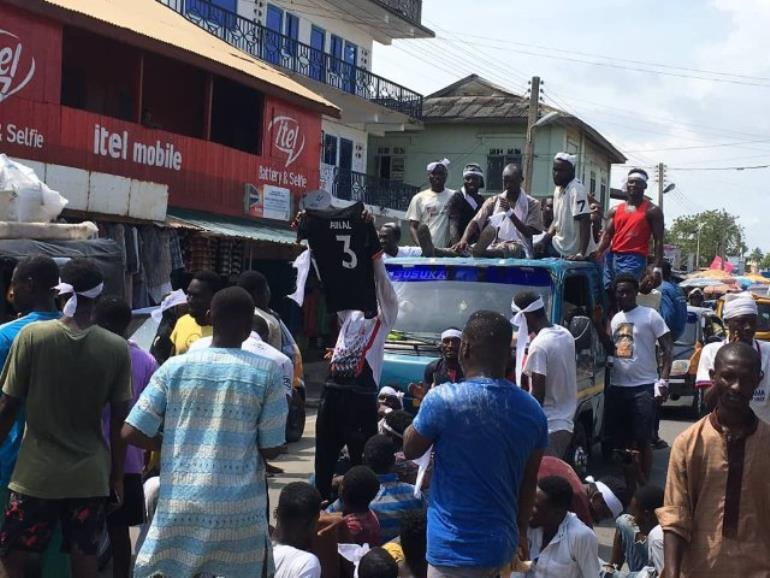 Ghana, South Africa pitch invader paraded on the street of Cape Coast after release from prison