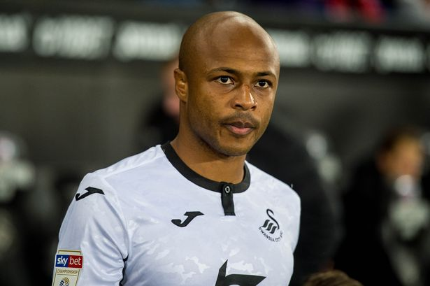 Swansea vice-captain Andre Ayew begs fans to level criticism at senior players
