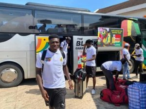 PHOTOS: Black Stars arrive in Cape Coast ahead of Bafana Bafana showdown