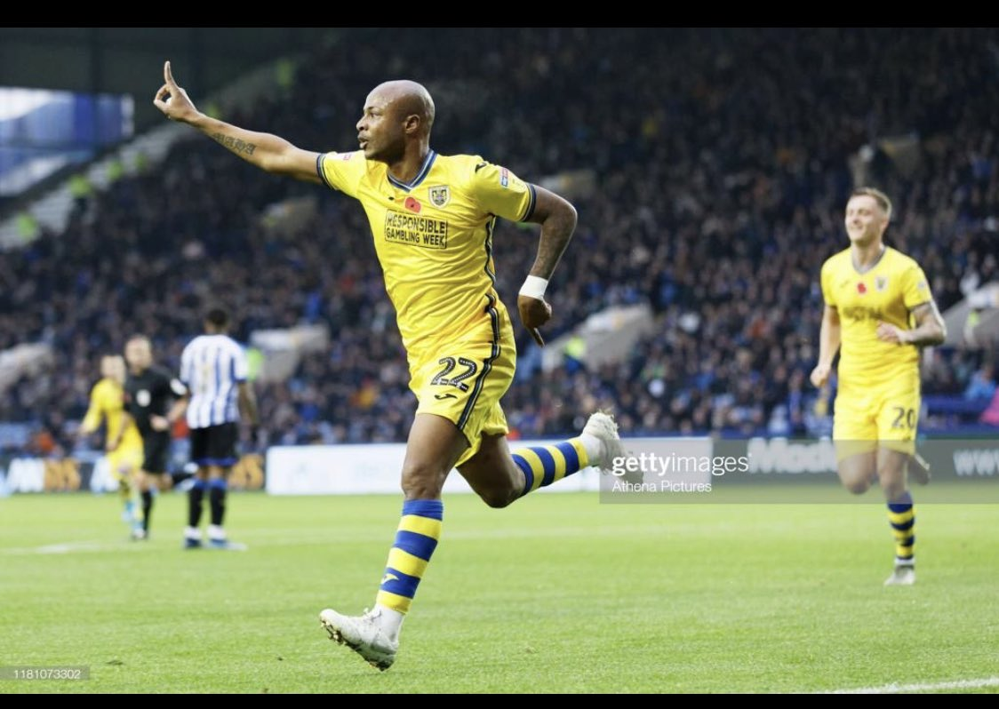 Ghana captain Andre Ayew delighted to score his fourth league goal for Swansea