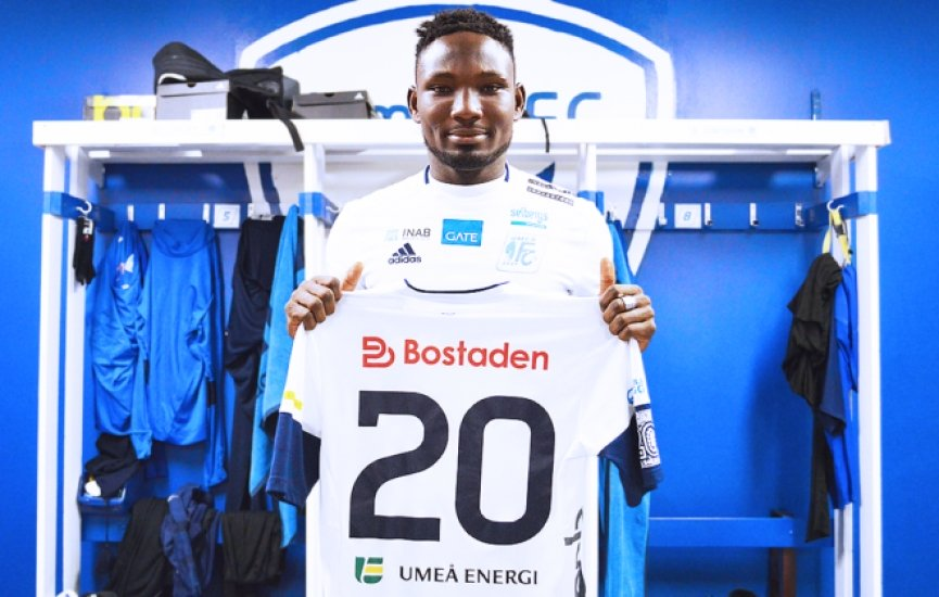 Ghana's Emmanuel Yeboah helps Umeå FC to secure promotion to Swedish second-tier