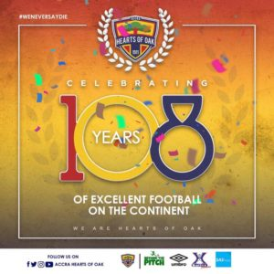 Hearts of Oak celebrate 108th birthday today
