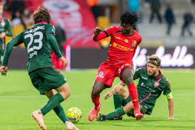 Ghanaian youngster Kudus Mohammed scores his fifth goal for FC Nordsjaelland