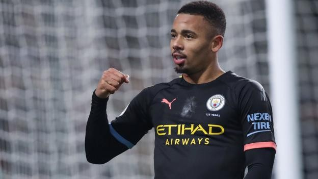 Burnley 1-4 Manchester City: Gabriel Jesus scores twice in comfortable win