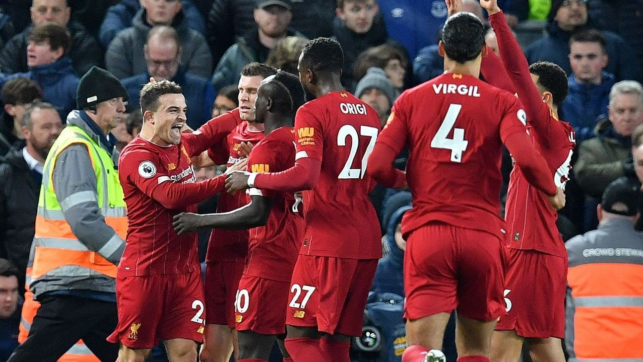 Liverpool beat Everton to remain unbeaten with Merseyside derby win