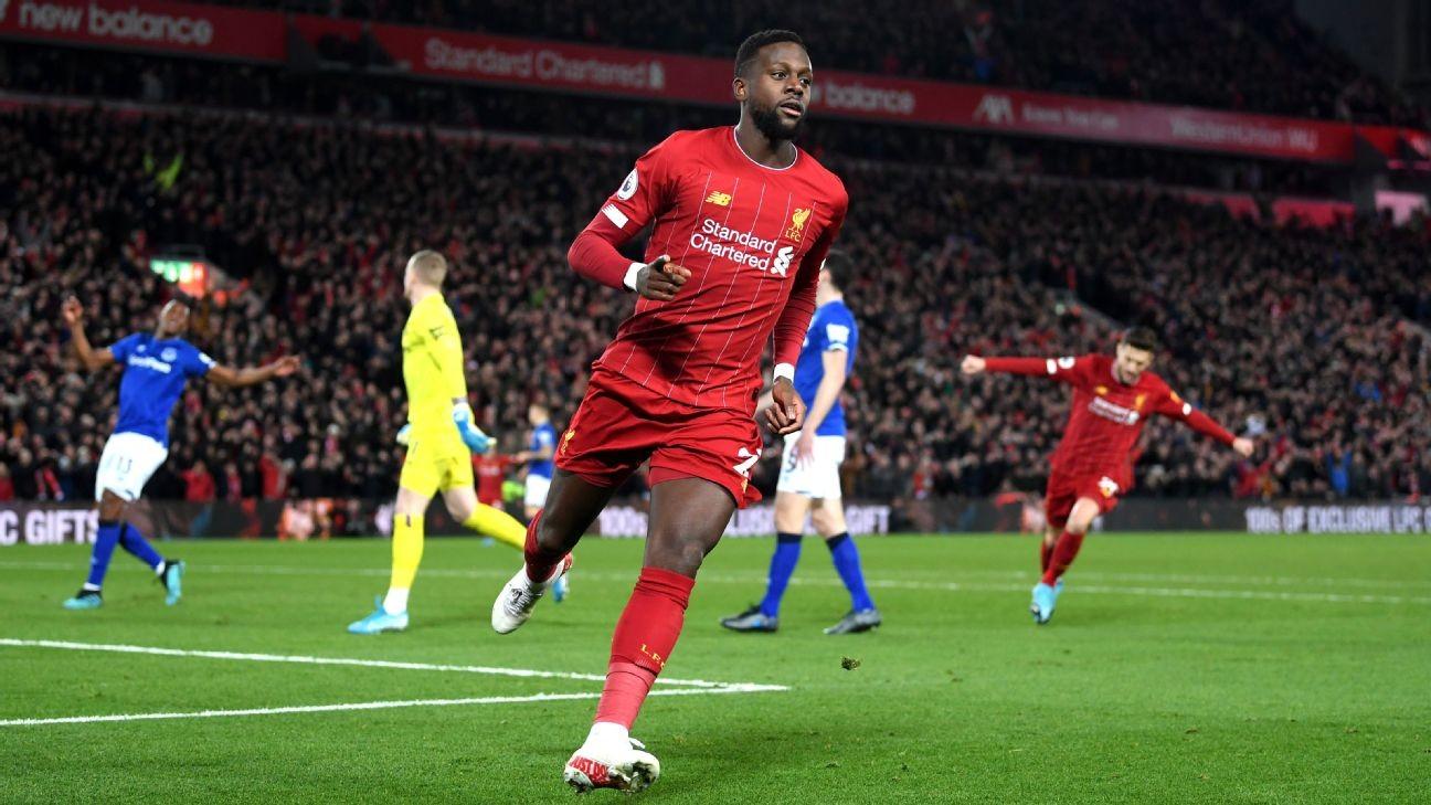 Origi, Mane both 9/10 as Salah-less Liverpool rout rivals Everton