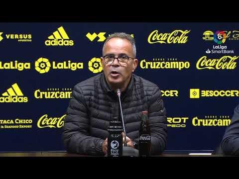 Rueda de prensa de Álvaro Cervera tras el Cádiz CF vs Elche CF (0-0)