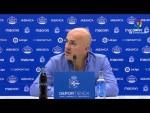 Rueda de prensa de Luis César Sampedro tras el RC Deportivo vs Real Zaragoza (1-3)