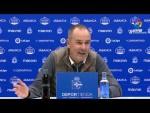Rueda de prensa de Víctor Fernández tras el RC Deportivo vs Real Zaragoza (1-3)