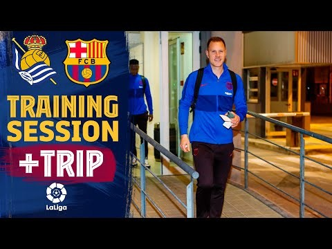 Last workout and trip to San Sebastián before LaLiga match against Real Sociedad