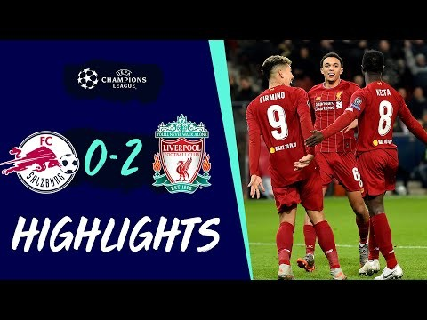 Highlights: Salzburg 0-2 Liverpool   Reds qualify for Champions League knockout stage
