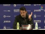 Rueda de prensa de Baldomero Hermoso tras el CF Fuenlabrada vs UD Almería (2-2)