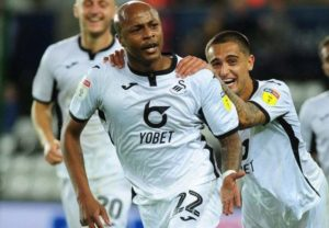 Ayew's MoTM performance for Swansea against Blackburn earns him a spot on Championship 'Team of the Week'