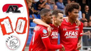 Myron Boadu's 90th minute strike sees AZ Alkmaar beat Ajax in the Dutch Eredivisie