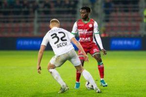 Ghanaian defender Gideon Mensah excited with Zulte Waregem win over KAS Eupen