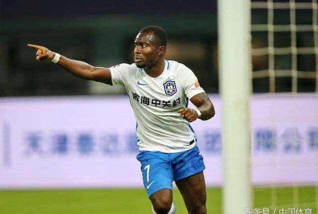 Speedster Frank Acheampong included in Chinese Super League 'Team of the Week'