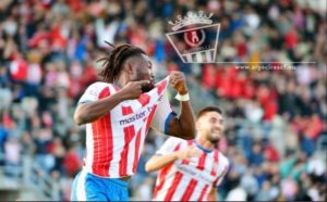 Ghanaian striker Abubakar Karim delighted to score for Algericas CF against Linense in Anderlusian derby
