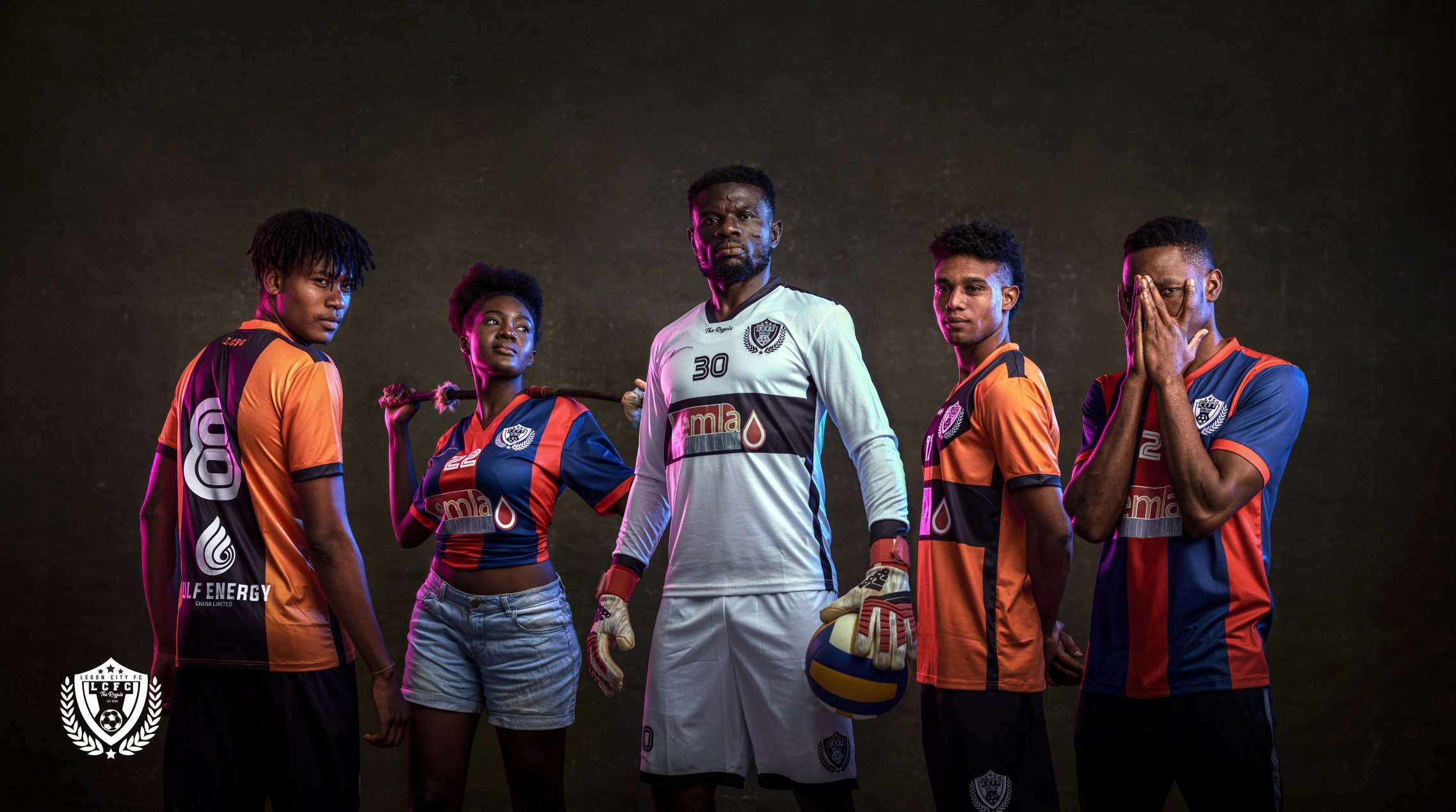 Ghana Premier League side Legon Cities FC outdoor new jersey
