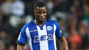 Mubarak Wakaso sees red as Deportivo Alaves suffer heavy defeat in Spanish La Liga
