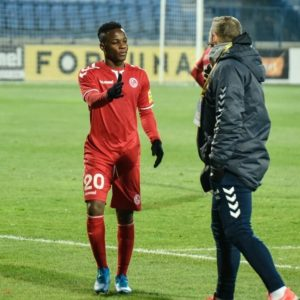Ghanaian attacker Osei Bonsu credits form in Slovak league with FK Senica to hard work