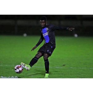 Ghanaian youngster Eric Appiah scores for Club Brugge against Sint Truidense
