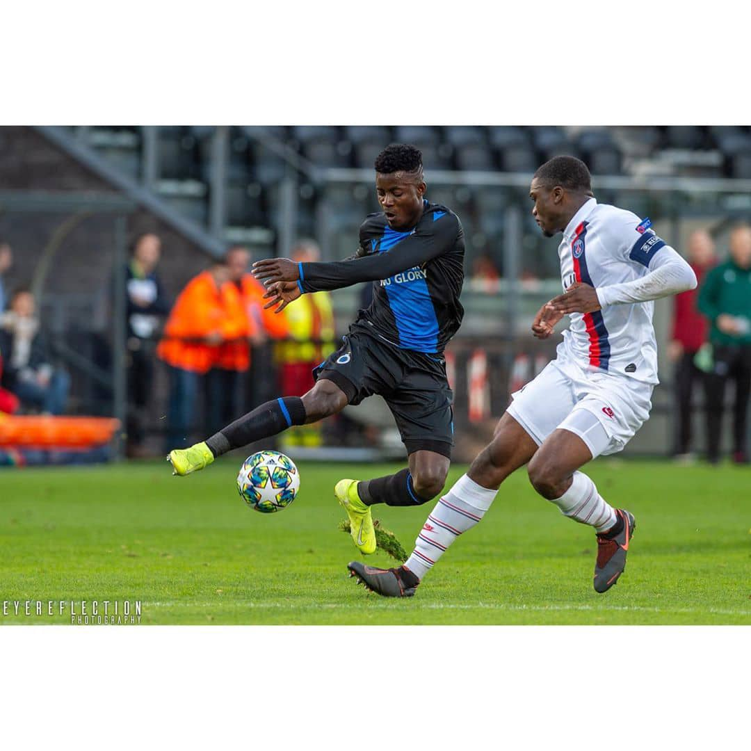 Eric Appiah scores again for Club Brugge in a 4-4 draw against Leuven