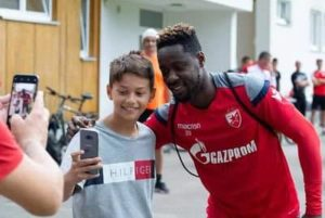 Boakye Yiadom wants to give Reds Star fans a Christmas present with a goal against Olympiacos