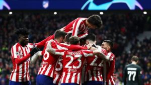 Partey savours Atletico Madrid's win against Lokomotiv Moscow in Uefa Champions League