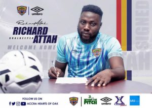 VIDEO: Hearts Of Oak release video unveiling of goalkeeper Richard Attah