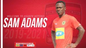 Kotoko announce signing of Sam Adams