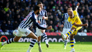 Ayew and his Swansea side suffer first away defeat of the season at West Brom