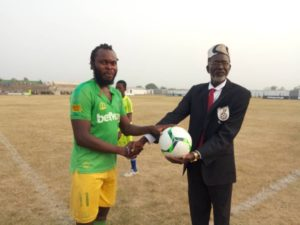 Yahaya Mohammed wins 'Man of the Match' award after inspiring Aduana Stars to beat Inter Allies