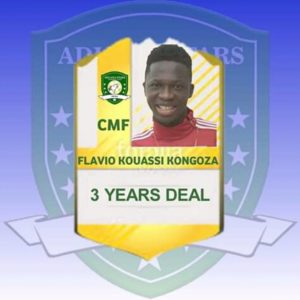 Aduana Stars complete deal for Ivorian midfielder Flavio Kongoza