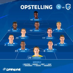 Ghanaian winger Joseph Paintsil features as Genk lose to Napoli in UCL