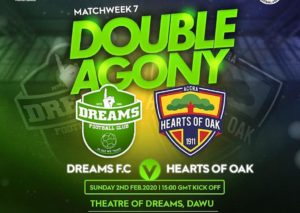 2019/20 Ghana Premier League: Dreams FC clashes with Hearts of Oak on match day seven