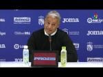 Rueda de prensa de  Sergio Pellicer tras el CF Fuenlabrada vs Málaga CF (0-0)
