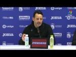Rueda de prensa de  Baldomero Hermoso tras el CF Fuenlabrada vs Málaga CF (0-0)