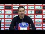 Rueda de prensa de  Luis Carrión tras el CD Numancia vs Real Sporting (2-0)