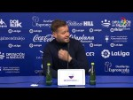 Rueda de prensa de Manuel Mosquera tras el Extremadura UD vs UD Almería (1-2)