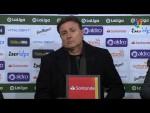Rueda de prensa de Cristóbal Parralo tras el Real Racing Club vs UD Las Palmas (1-1)