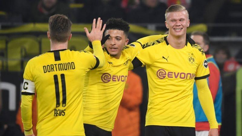 Erling Haaland scores two, Jadon Sancho dazzles as Dortmund thrash Cologne