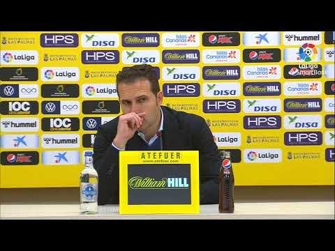 Rueda de prensa de  Rubén Baraja tras el UD Las Palmas vs CD Tenerife (0-0)