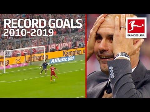Top 10 Best Record-Breaking Goals of The Decade 2010-2019 - Lewandowski, Volland, Alcacer & More