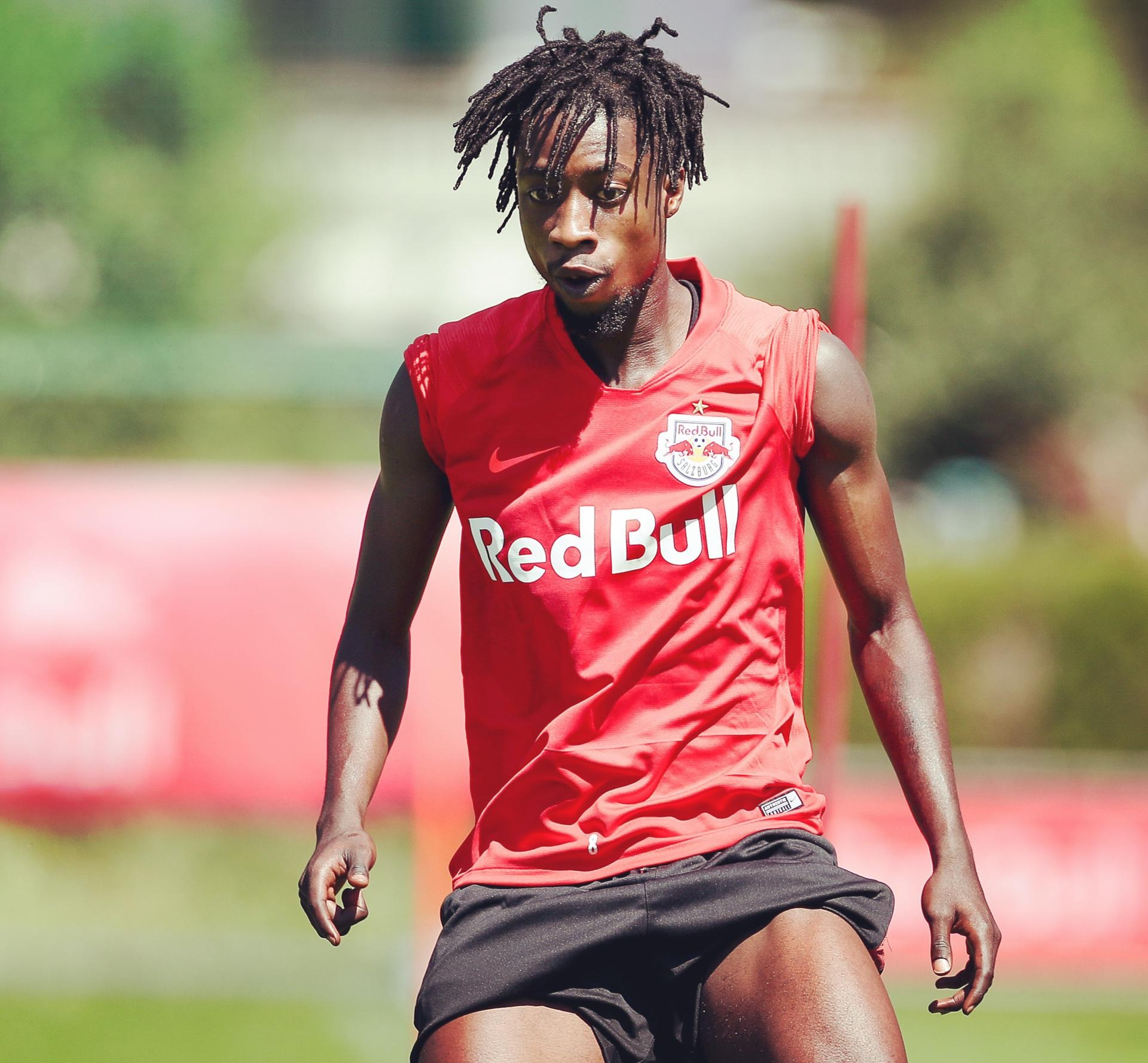 Ghanaian midfielder Majeed Ashimeru back to training with RB Salzburg