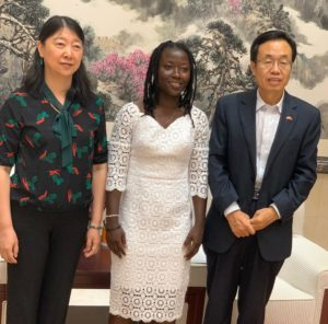 Black Queens star Elizabeth Addo pays courtesy call on Chinese Ambassador