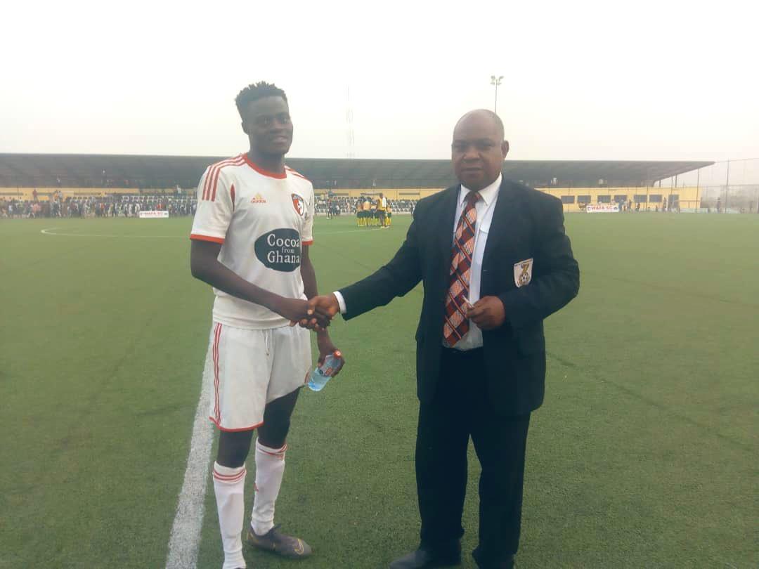 WAFA SC midfielder Prosper Ahiabu adjudged MOTM against Ebusua Dwarfs
