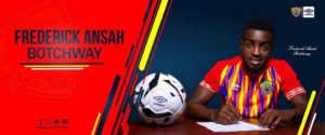 Hearts of Oak new signing Frederick Ansah marks debut against Dwarfs today