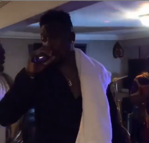 VIDEO: Watch Asamoah Gyan's performance with his band on 31st night